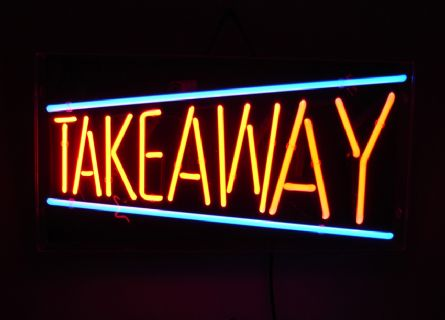 Take Away Neon Sign
